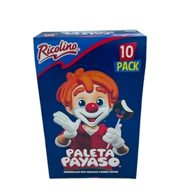 Picture of Paleta Payaso Grande de Ricolino 10 count - Item No. 5712
