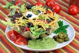 Picture of Taco Shell Salad Recipe- Item No.575-taco-shell-salad