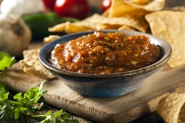 Picture of Pasilla Salsa Mexican Recipe - Item No. 583-pasilla-salsa