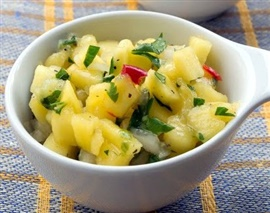 Picture of Mango Salsa Tropical Mexican Recipe - Item No. 593-mango-salsa-tropical