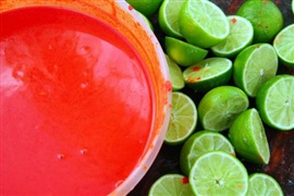 Picture of Achiote Sauce Recipe from Yucatan Mexico - Item No. 596-achiote-sauce