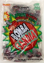 Picture of Bomba Sandia Watermelon Lollipops by Vero - Item No. 59686-42212