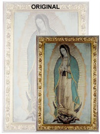 Picture of Our Lady of Guadalupe Poster - Virgin of Guadalupe - Large  46'' x 27.5''- Item No.61002