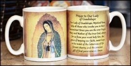 """Picture of Coffee Mug of Our Lady of Guadalupe 4"""" H,  10 oz- Item No.61023"""