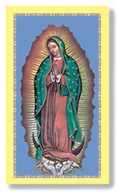 Picture of Our Lady of Guadalupe Holy Card - 1 stamp laminated - Item No. 61029
