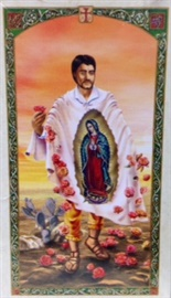 Picture of St. Juan Diego Holy Card  with Our Lady of Guadalupe - Estampa San Juan Diego - Item No. 61030