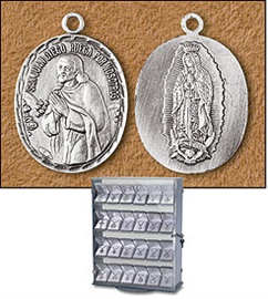 Picture of Our Lady of Guadalupe / Saint Juan Diego Medal and Chain - Item No. 61032