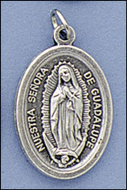Picture of Our Lady of Guadalupe Silver Medal - Medalla Virgen de Guadalupe Plata- Item No.61034