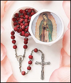 Picture of Our Lady of Guadalupe Rosary Rose Scented with box - Item No. 61037