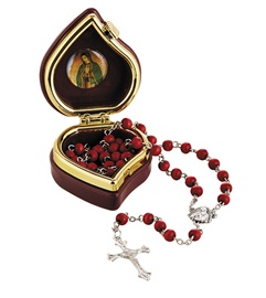 Picture of Our Lady of Guadalupe Rose Scented Wood Rosary- Item No.61040
