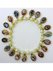 Picture of Religious Bracelet - Virgin Mary & Saints Bracelet with religious medals- Item No.62001