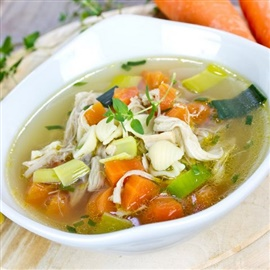 Picture of Chicken Soup Mexico Style Recipe - Item No. 628-chicken-soup