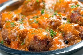 Picture of Meatball Soup - Albondigas Soup Mexican Recipe - Item No. 633-meatball-soup