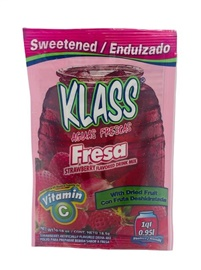 Picture of Strawberry Drink Mix - KLASS Aguas Frescas de Fresa  .26 oz (Pack of 3) - Item No. 6487