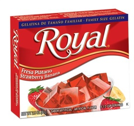 Picture of Royal: Fresca-Strawberry Banana Gelatin (2.8 oz) pack of 3 - Item No. 72392-01073