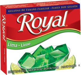 Picture of Royal: Fresca-Lime Gelatin (2.8 oz) pack of 3 - Item No. 72392-01077