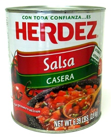 Picture of Salsa Casera Herdez (102 oz) #10 can - Item No. 72878-27527