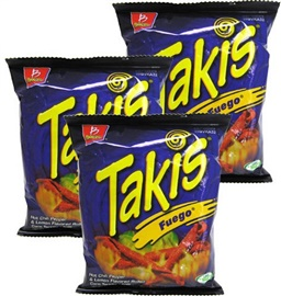 Picture of Takis Fuego Corn Tortilla Minis by Barcel 4 oz (Pack of 3) - Item No. 74323-02753