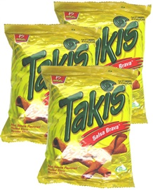 Picture of Takis Salsa Brava Hot Sauce Flavored Rolled Corn Tortilla Minis by Barcel 4 oz - Item No. 74323-03346