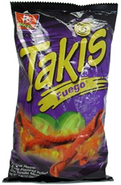Picture of Takis Fuego Hot Chili Pepper & Lime Flavored Rolled Tortilla Minis 9.88 oz (Pack of 3) - Item No. 74323-07819