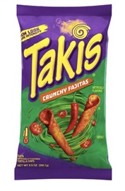 Picture of Takis Crunchy Fajita Taco Flavored Rolled Corn Tortilla Minis 9.88 oz (Pack of 3)- Item No.74323-09632