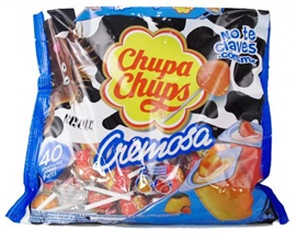 Picture of Chupa Chups Cremosa Strawberry & Cream/ Choco-Vanilla lollipops  - Item No. 76350-61030