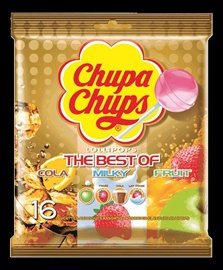 Picture of The Best of Chupa Chups Lollipops (10 count gold bag) Pack of 3 - Item No. 76350-61558