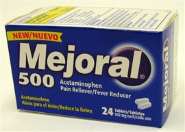 Picture of MEJORAL Adult Pain Reliever (500 mg)  24 CT - Item No. 85181