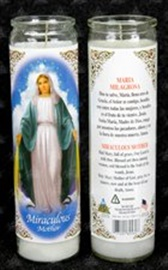 Picture of Miraculous Mother  Candle (Pack of 6) - Item No. 8575