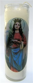 Picture of 7 Day Santa Barbara Candle - Veladora Santa Barbara (Pack of 6) - Item No. 8581