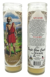 Picture of St Lazarus Candle - Veladora San Lazaro (Pack of 6) - Item No. 8584