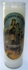 Picture of Nuestra Senora del Camen Candle - Veladora Virgen del Carmen (Pack of 6) - Item No. 8586