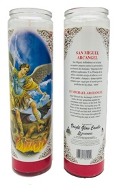 Picture of Saint Michael Archangel Candle (Pack of 6)- Item No.8590