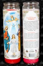 Picture of The Holy Family  Candle (Pack of 6) - Item No. 8594