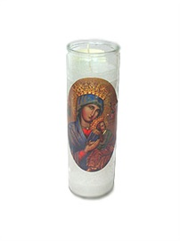 Picture of Our Lady of Perpetual Help Candle (Pack of 6) - Item No. 8596