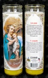 Picture of Saint Joseph Candle - Veladora de San Jose (Pack of 6) - Item No. 8597