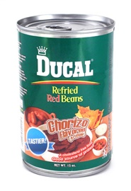 Picture of Ducal Red Refried Beans with Chorizo 15 oz (Pack of 3)- Item No.88313-00114