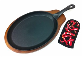 Picture of Cast Iron Fajita Platter Set - Item No. 9113