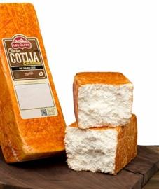 Picture of Queso Cotija Enchilado Los Altos (Aged Cheese with Chile) 5 LB Random- Item No.91155-14306