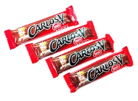 Picture of Carlos V Swiss Milk Chocolate 4 pieces - Item No. 9422