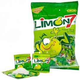 Picture of Limon 7 - Polvo de Sal y Limon - Salt &  Lemon powder - 100 pieces - 7 oz - Item No. 95600-00101