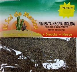 Picture of Ground Black Pepper by El Sol de Mexico .60 oz- Item No.9612