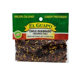 Picture of Crushed Chili Quebrado by El Sol de Mexico 1 oz - Item No. 9629