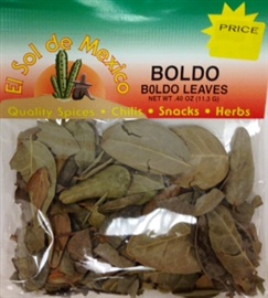 Picture of Boldo Leaves by El Sol de Mexico .40 oz - Item No. 9634