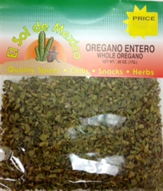 Picture of Whole Oregano by El Sol de Mexico .60 OZ - Item No. 9638