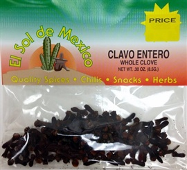 Picture of Whole Cloves by El Sol de Mexico .30 oz - Item No. 9639