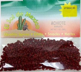 Picture of Achiote Annatto Seeds by El Sol de Mexico - Item No. 9641