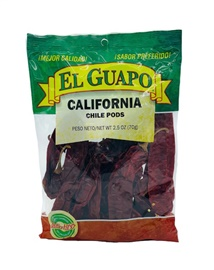 Picture of California Dried Chile Pepper by El Sol de Mexico 3 oz. - Item No. 9651