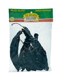 Picture of Chile Negro Dried Chile Pepper by El Sol de Mexico 2 oz. - Item No. 9652