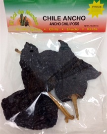 Picture of Ancho Dried Chile Pepper by El Sol de Mexico 2 oz. - Item No. 9655